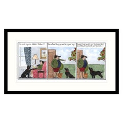 Dog Needs to Go Out Again, Humorous Dog Print