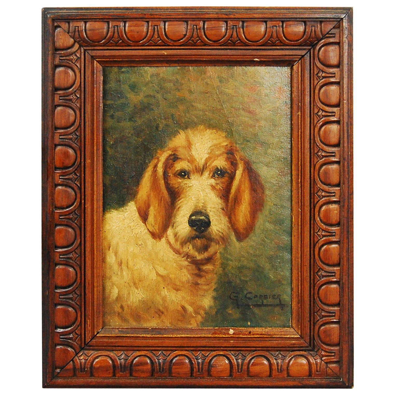 Dog Oil on Panel Portrait