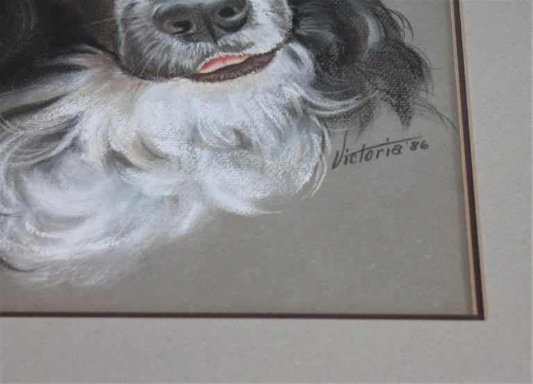 This Signed Victoria 1986 watercolor is in fine condition and great frame original to the piece of art.