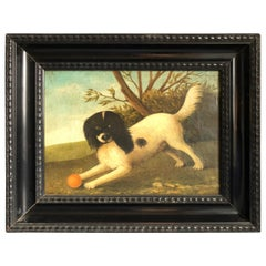 Dog Painting, French, 20th Century