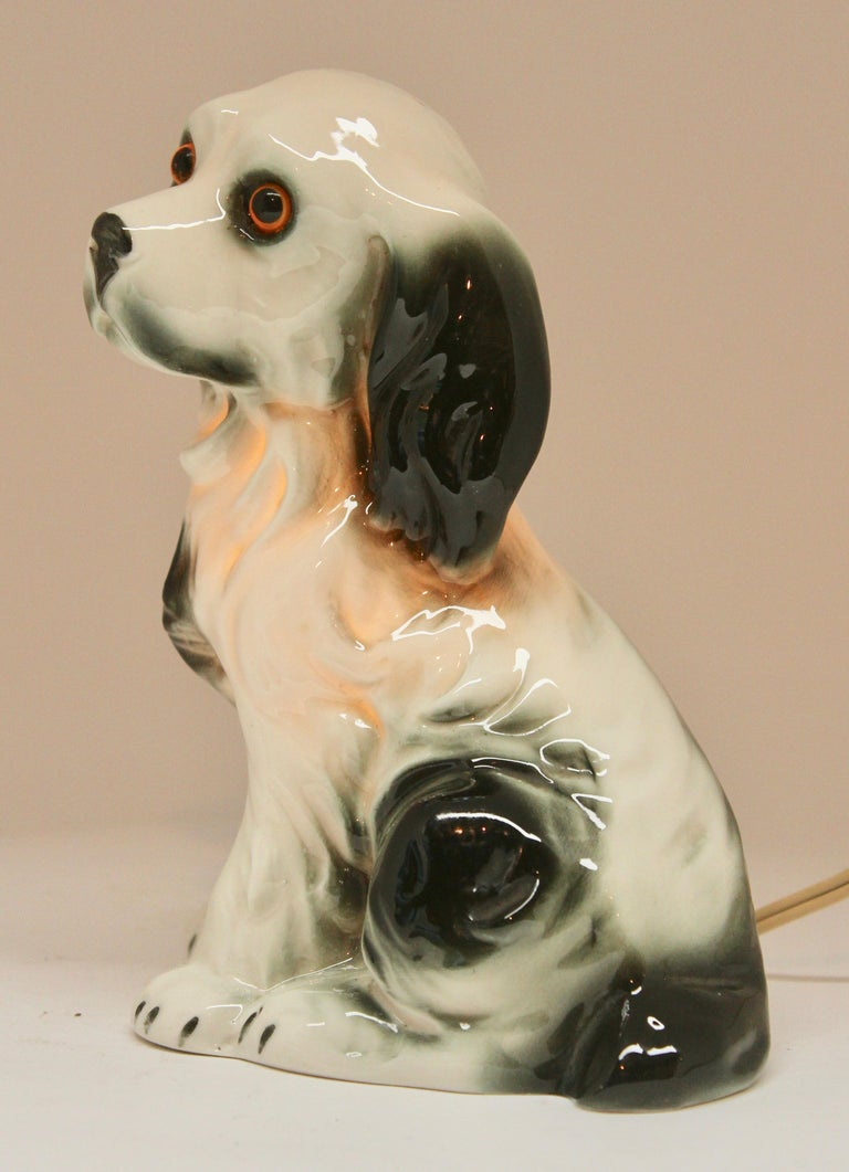 Art Nouveau Dog Perfume Lamp / Air Purifier /Carl Scheidig Gräfenthal, Germany, circa 1930s For Sale