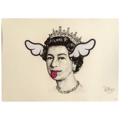 Dog Save The Queen Original Print by D*Face