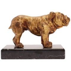 Dog Sculpture of a Bulldog, USA 1890
