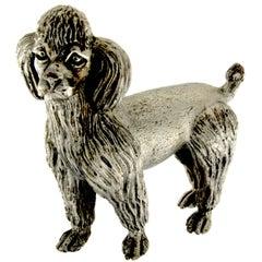 Dog Sculpture Poodle in Silver