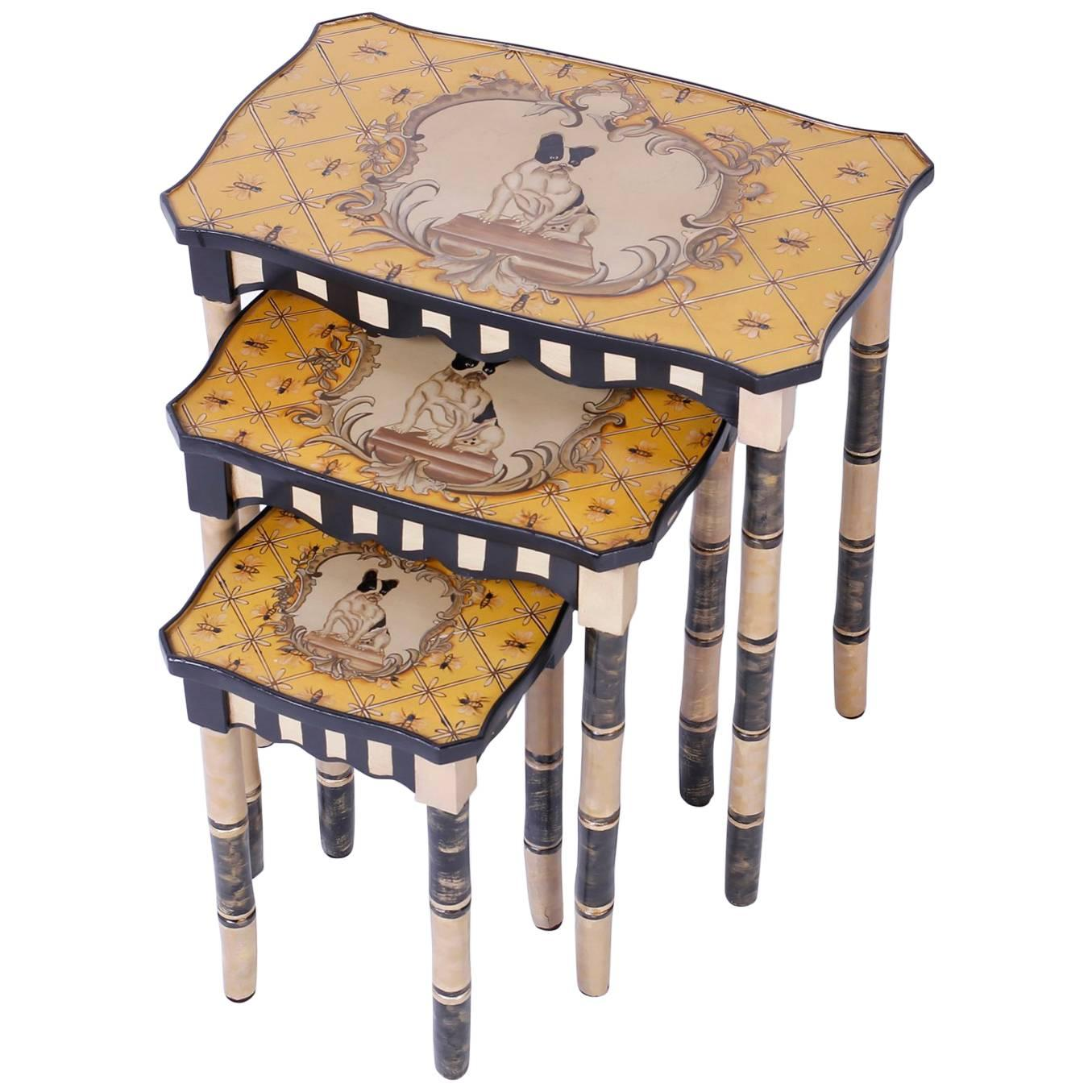 Dog Themed Nesting Tables