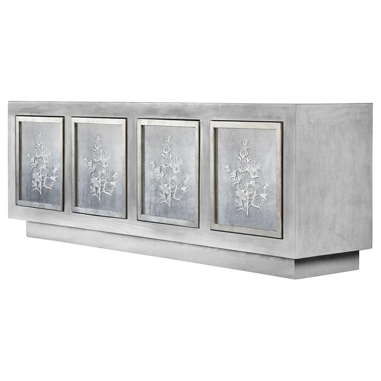Doheny Credenza in Stone Gray by Badgley Mischka Home For Sale