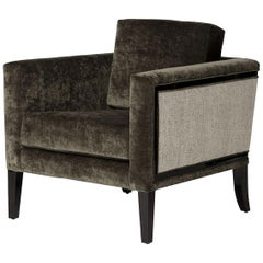 Doheny Lounge Chair I in Sage & Lacquered Ebony by Badgley Mischka Home