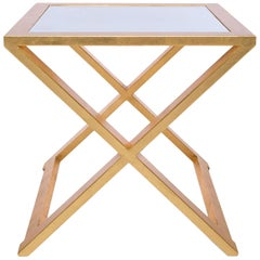 Doheny Square Accent Table II in Gold Leaf by Innova Luxuxy Group