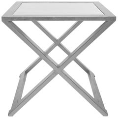 Doheny Square Accent Table II in Silver Leaf by Badgley Mischka Home