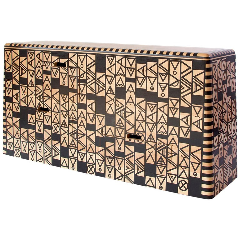 """Dokter and Misses, """"Kassena Isibheqe"""" Server, Hand Painted Sideboard For Sale"""