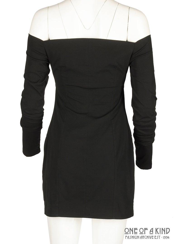 Women's Dolce & Gabbana black lycra spandex blazer mini dress with bikini bust, ss 1992 For Sale
