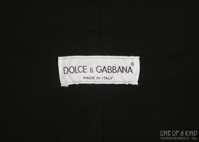 Dolce & Gabbana black lycra spandex blazer mini dress with bikini bust, ss 1992 For Sale 1