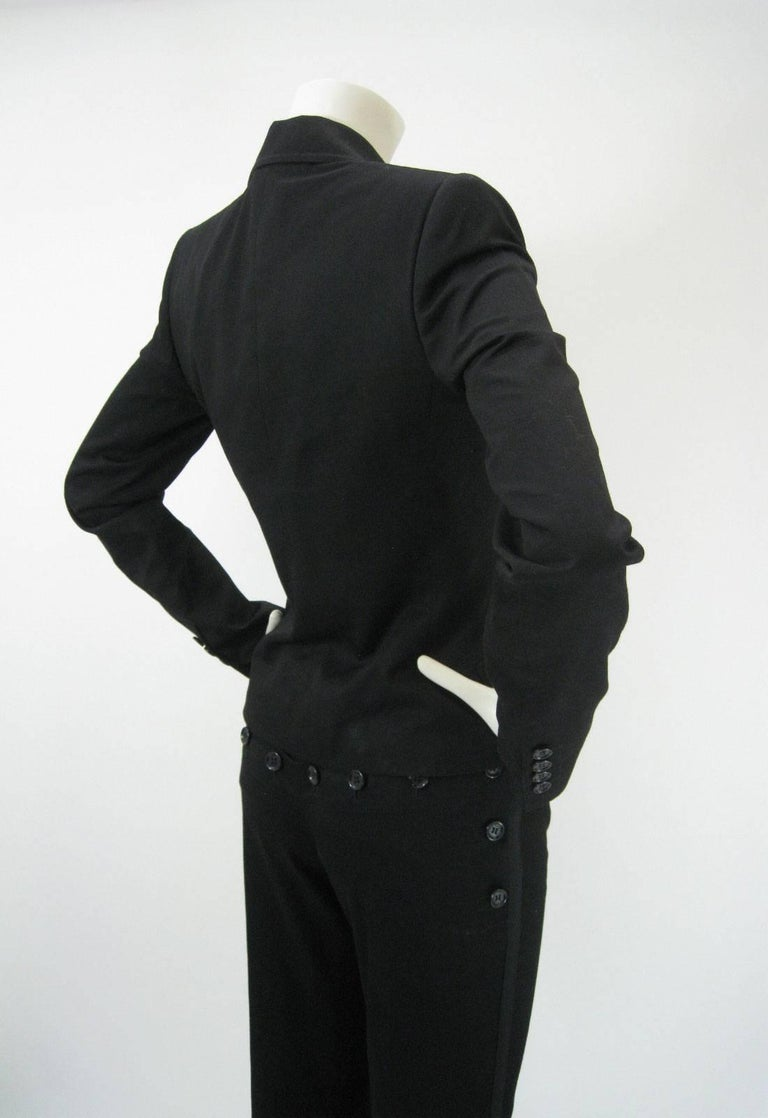 Dolce & Gabbana Black Tuxedo Dinner Pantsuit Ensemble In Excellent Condition For Sale In San Francisco, CA