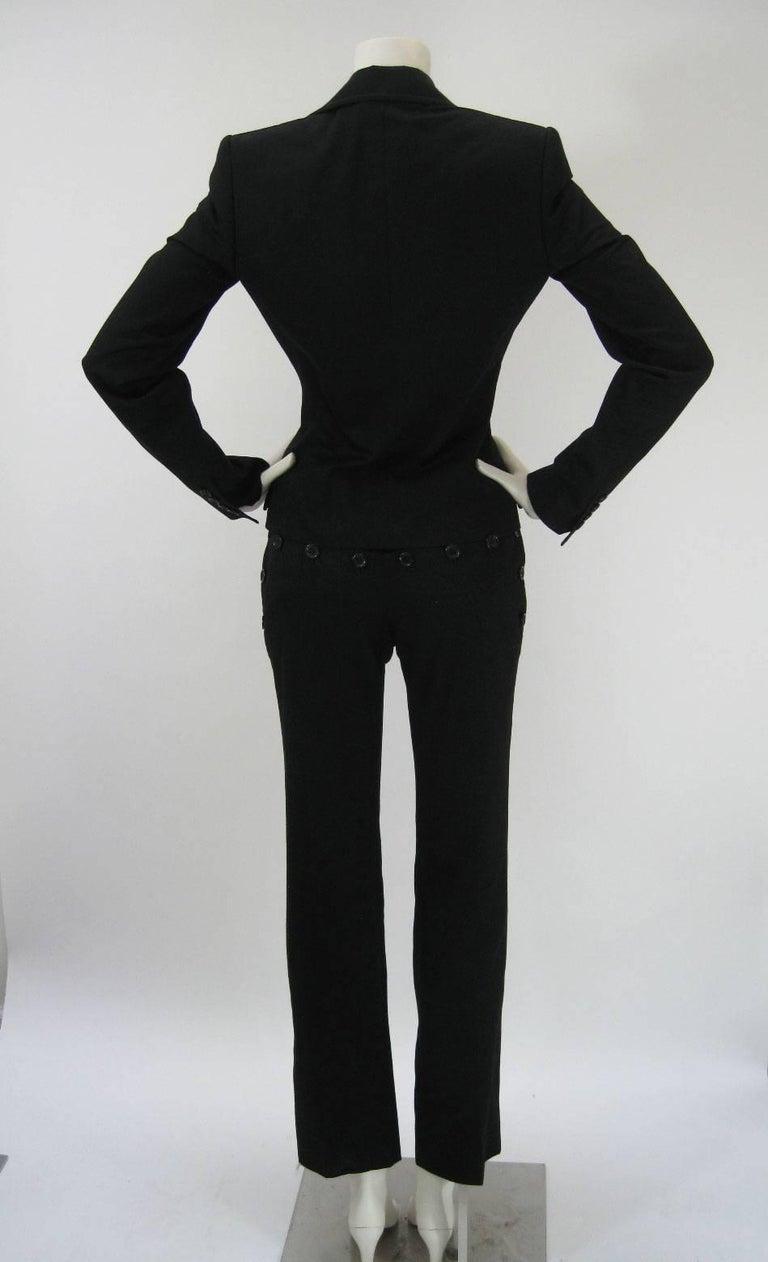 Women's Dolce & Gabbana Black Tuxedo Dinner Pantsuit Ensemble For Sale