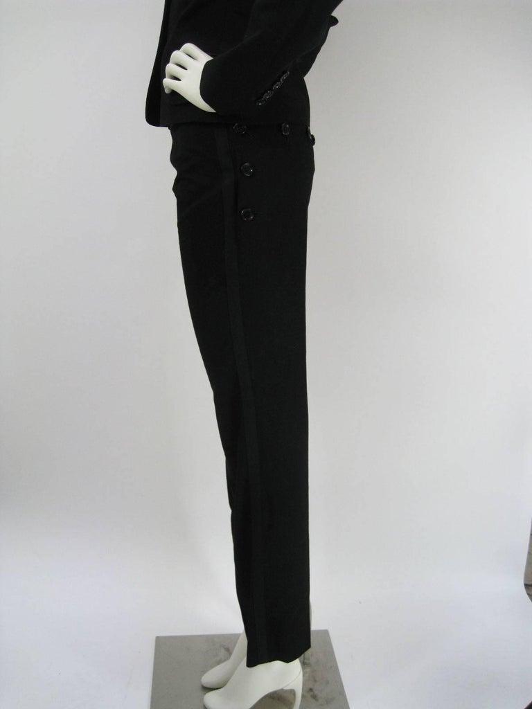Dolce & Gabbana Black Tuxedo Dinner Pantsuit Ensemble For Sale 4