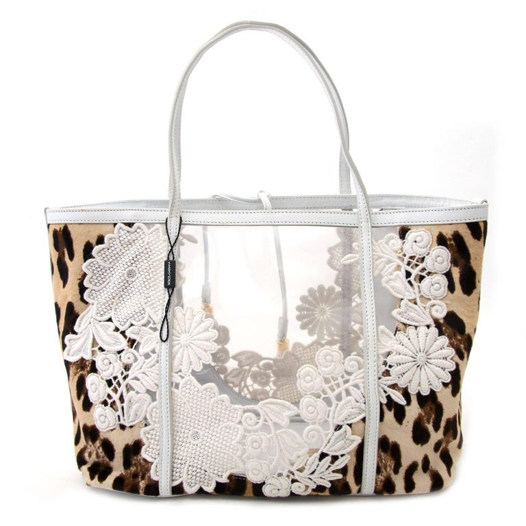 5aab21c9092 Good preloved condition Dolce   Gabbana Escape Leopard Print Trend Alert    Plastic see-through