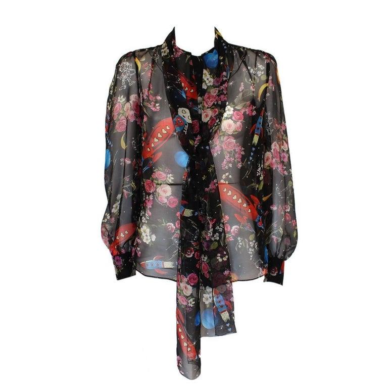 Dolce & Gabbana Fancy Silk Shirt IT38