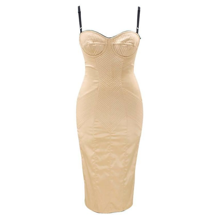 Dolce & Gabbana Gold Fitted Dress