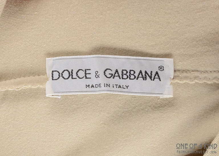 Dolce & Gabbana ivory cotton jersey bodycon dress and crop top set, ss 1991 For Sale 4