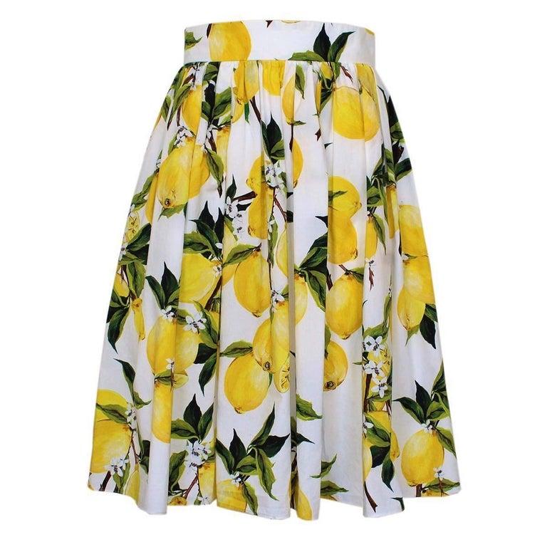 Dolce & Gabbana Lemon Skirt IT40