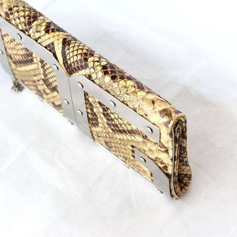 Dolce & Gabbana Reptile Pochette In Good Condition For Sale In Gazzaniga (BG), IT