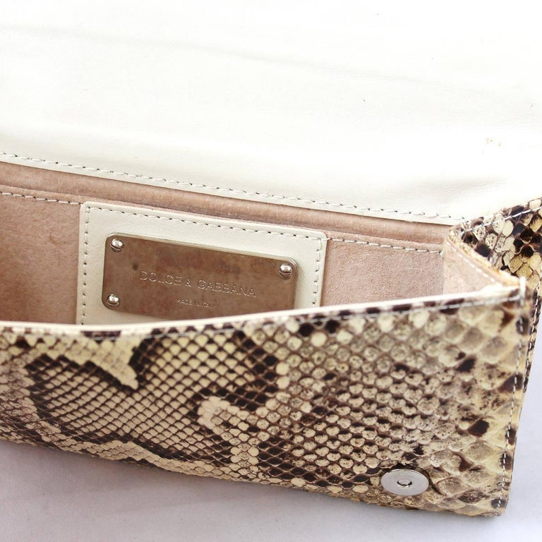 Women's Dolce & Gabbana Reptile Pochette For Sale