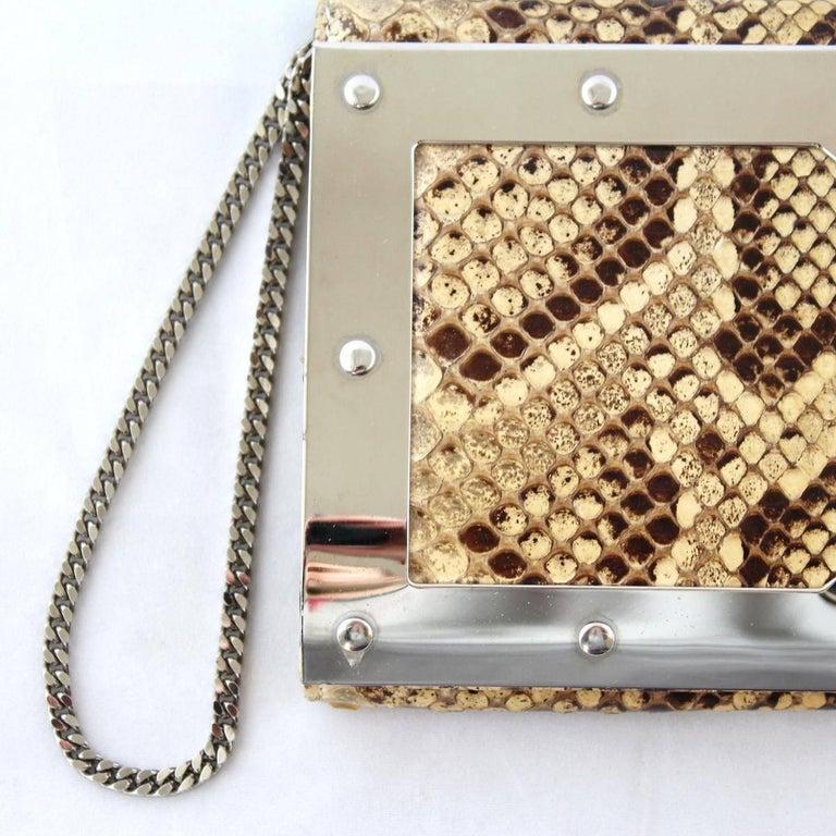 Dolce & Gabbana Reptile Pochette For Sale 1