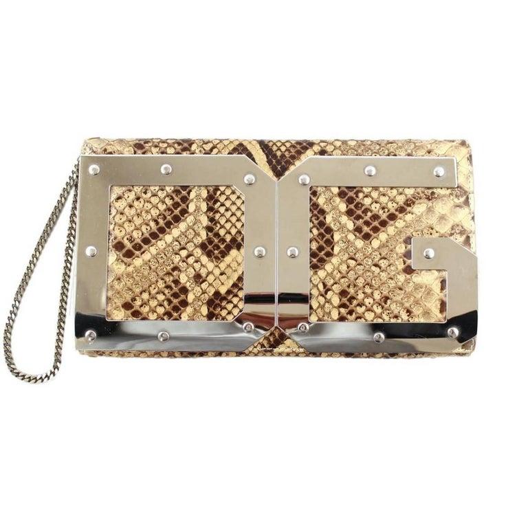 Dolce & Gabbana Reptile Pochette For Sale