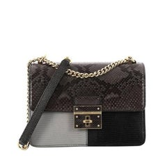 Dolce & Gabbana Rosalia Shoulder Bag Python and Lizard Embossed Leather