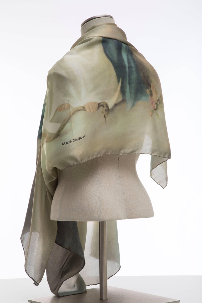 Dolce & Gabbana Stromboli Collection Printed Silk Scarf, Spring / Summer 1998 For Sale 10