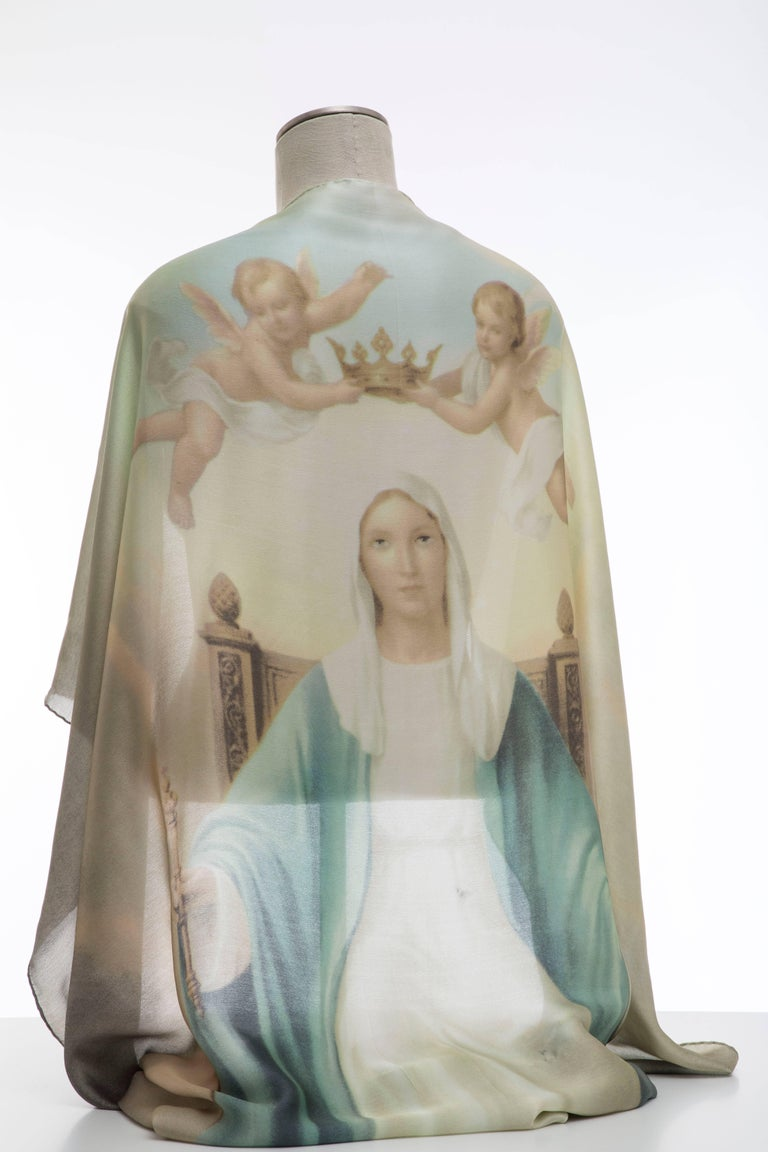 Dolce & Gabbana Stromboli Collection Printed Silk Scarf, Spring / Summer 1998 For Sale 11