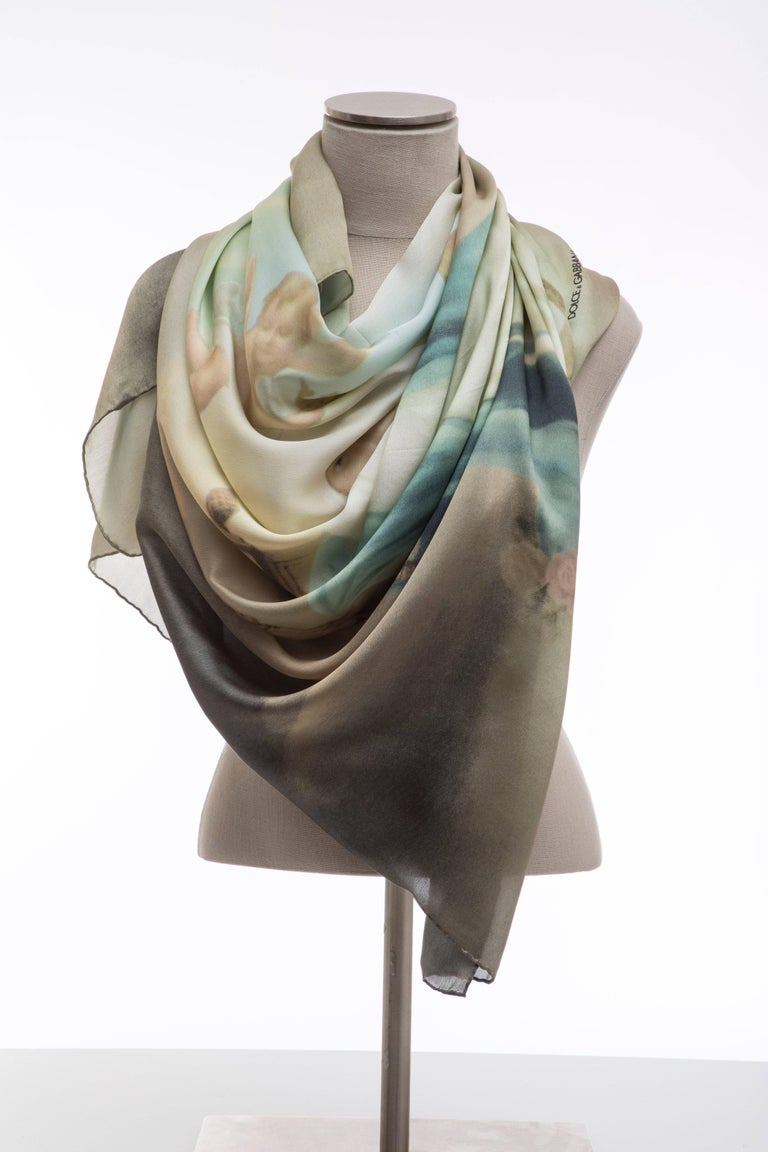 Dolce & Gabbana Stromboli Collection Printed Silk Scarf, Spring / Summer 1998 For Sale 1