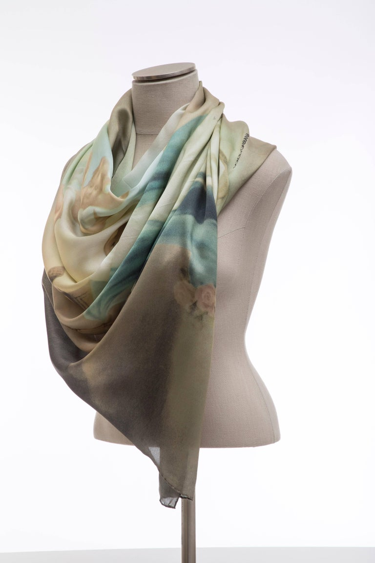 Dolce & Gabbana Stromboli Collection Printed Silk Scarf, Spring / Summer 1998 For Sale 2