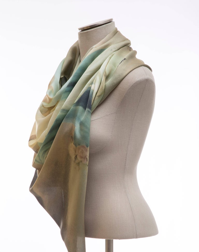 Dolce & Gabbana Stromboli Collection Printed Silk Scarf, Spring / Summer 1998 For Sale 3