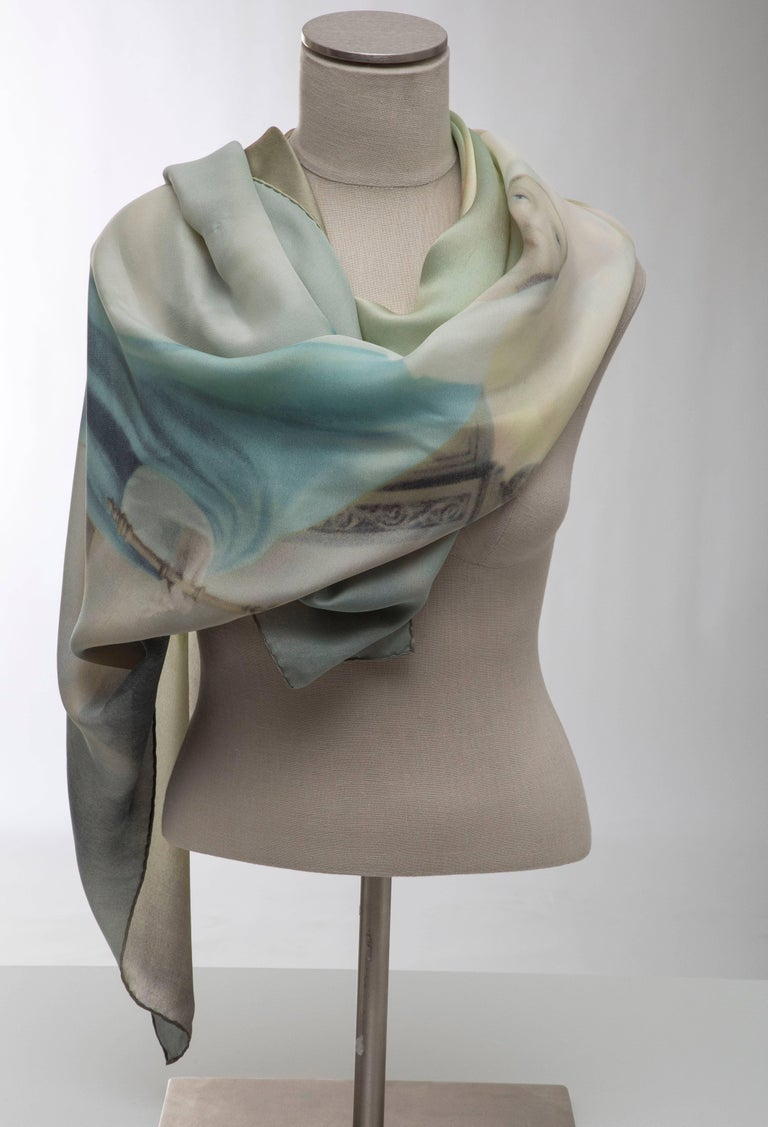Dolce & Gabbana Stromboli Collection Printed Silk Scarf, Spring / Summer 1998 For Sale 4