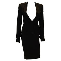 Dolce and Gabanna Black Jacket with Tie Belt