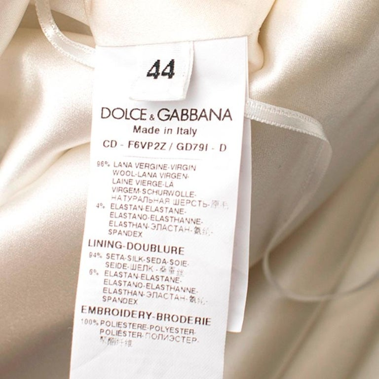 Dolce and Gabanna Striped Sequinned Dress M 44 For Sale 3