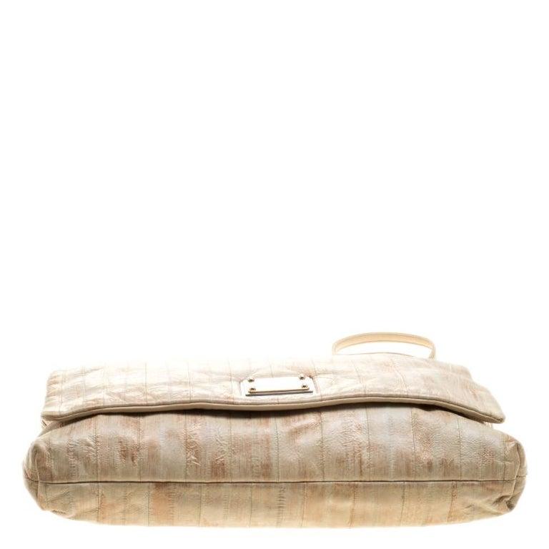 Dolce and Gabbana Beige Leather Miss Deco Shoulder Bag For Sale 1