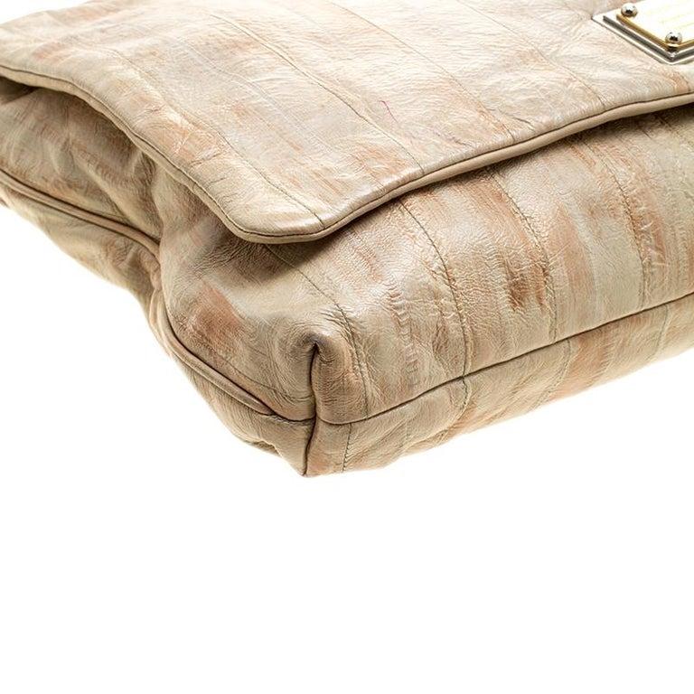Dolce and Gabbana Beige Leather Miss Deco Shoulder Bag For Sale 4