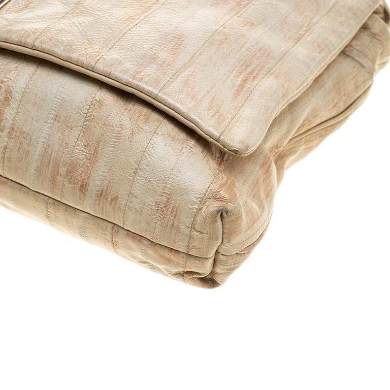 Dolce and Gabbana Beige Leather Miss Deco Shoulder Bag For Sale 5