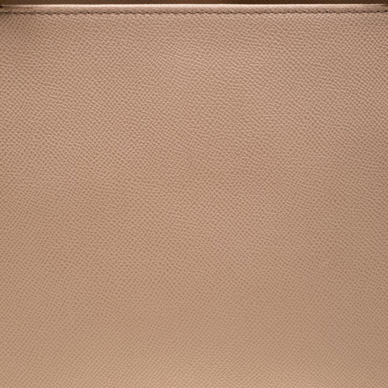 Dolce and Gabbana Beige Leather Miss Sicily Top Handle Bag For Sale 6