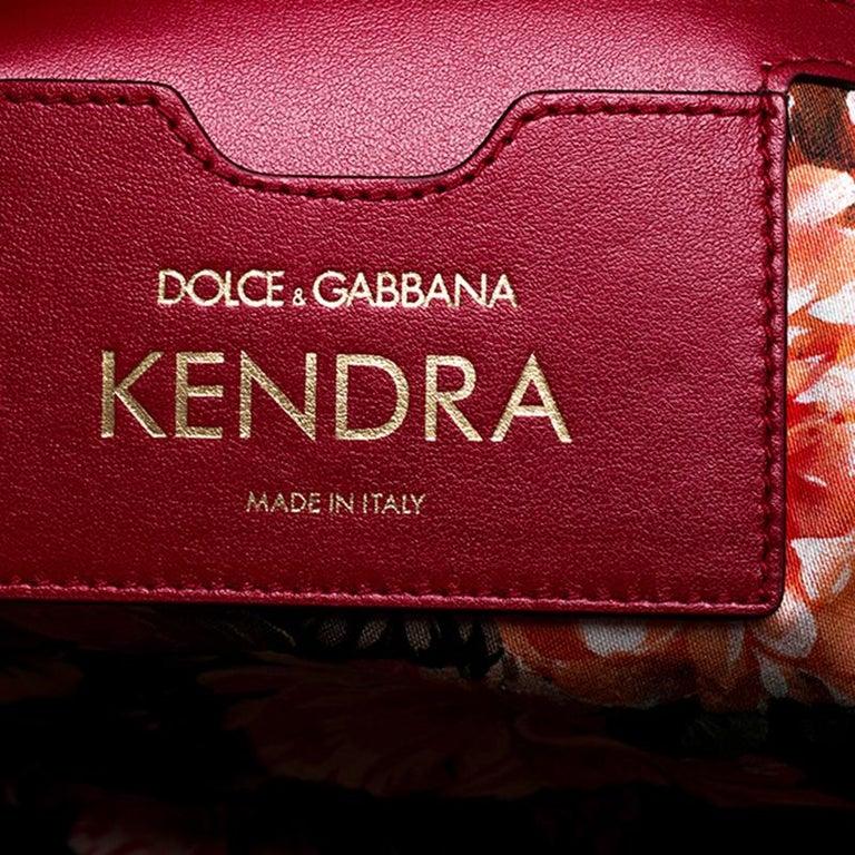 Dolce and Gabbana Beige Woven Raffia Kendra Bucket Bag For Sale 3