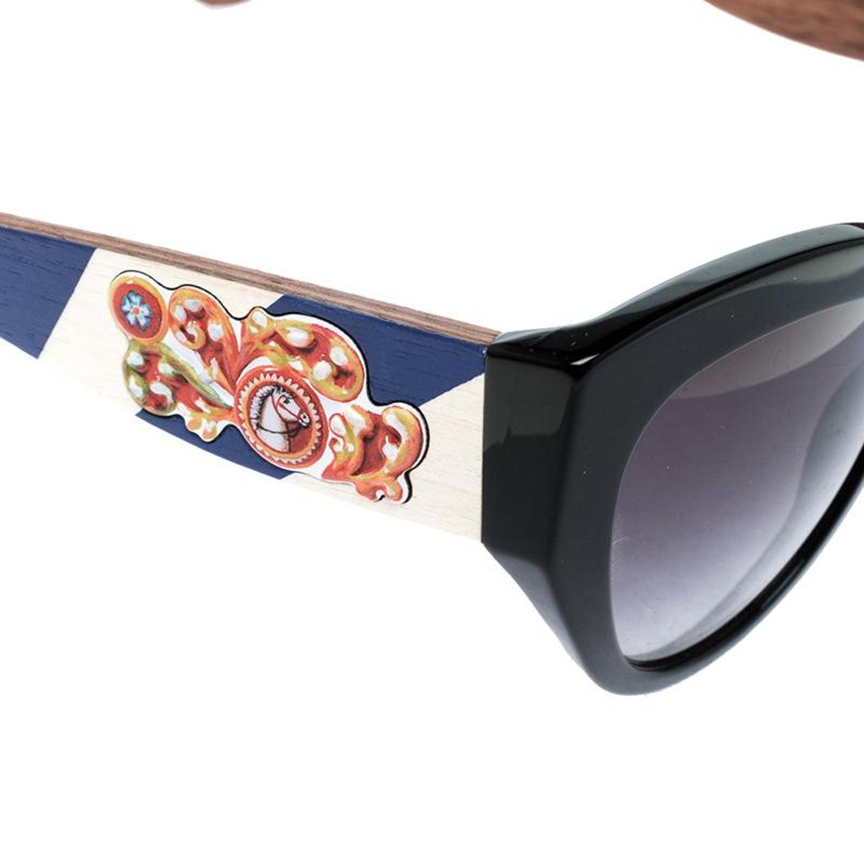 fea64b0a7c53c Dolce and Gabbana Black DG 4278 Sicilian Carretto Cat Eye Sunglasses For  Sale at 1stdibs