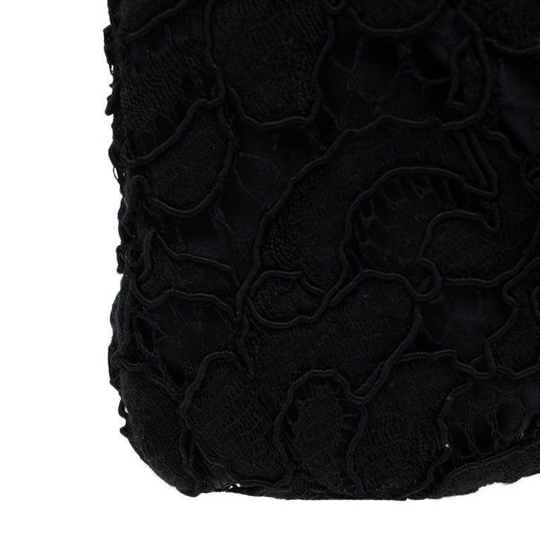 Dolce and Gabbana Black Lace Bow Evening Bag For Sale 6
