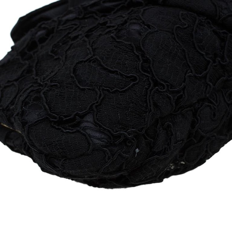 Dolce and Gabbana Black Lace Bow Evening Bag For Sale 7