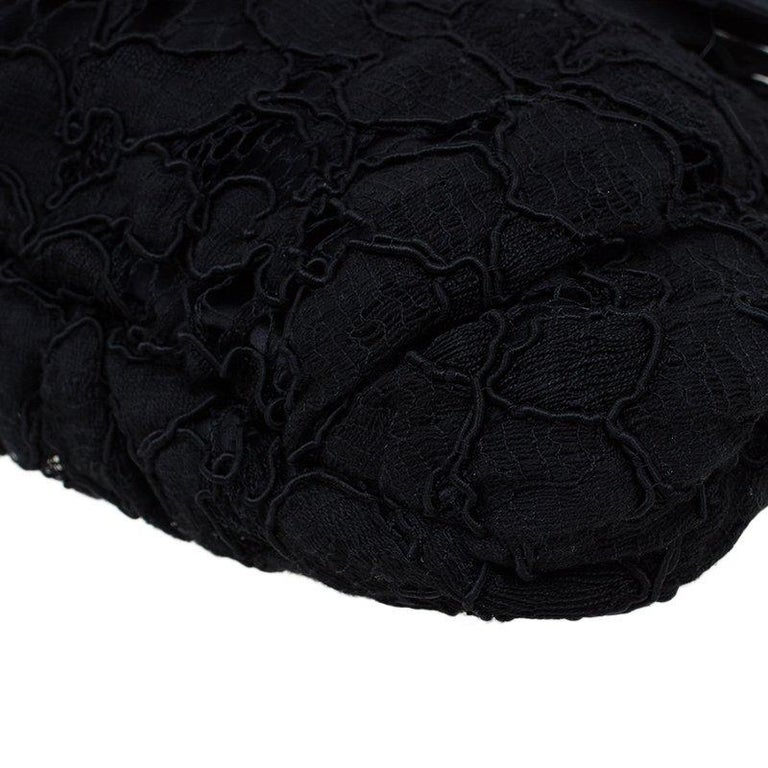 Dolce and Gabbana Black Lace Bow Evening Bag For Sale 8