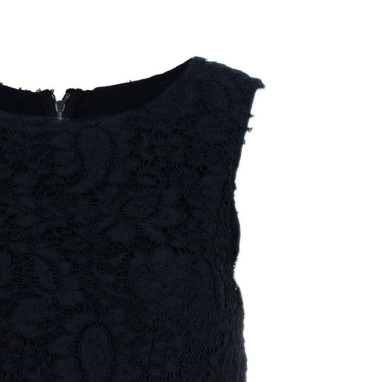 Dolce and Gabbana Black Lace Shift Dress M For Sale 3