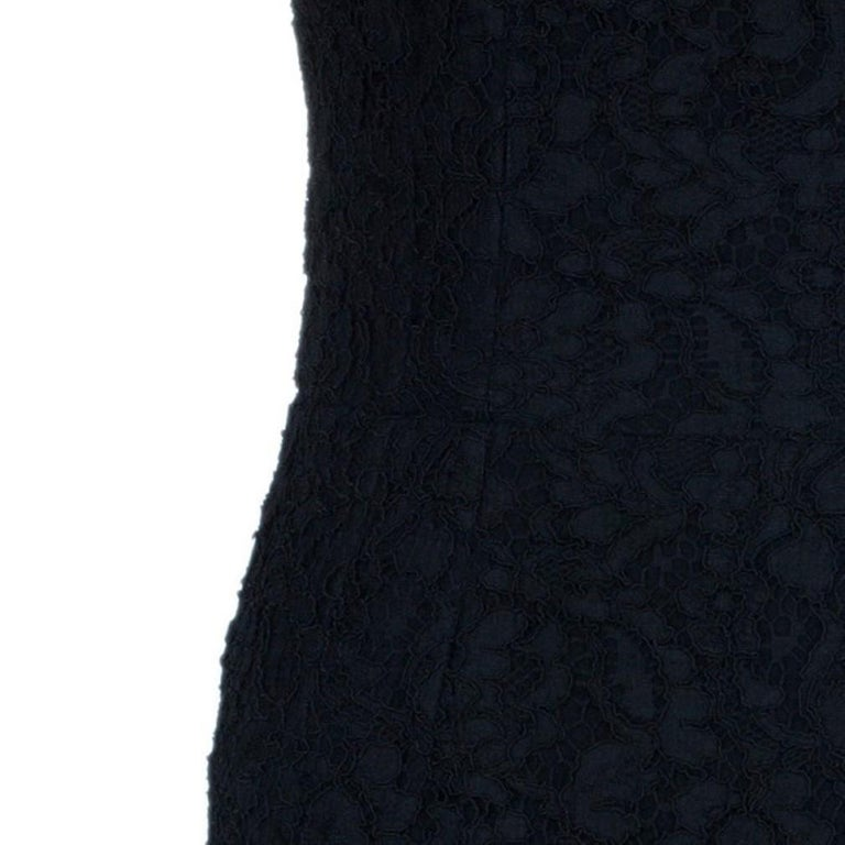 Dolce and Gabbana Black Lace Shift Dress M For Sale 4