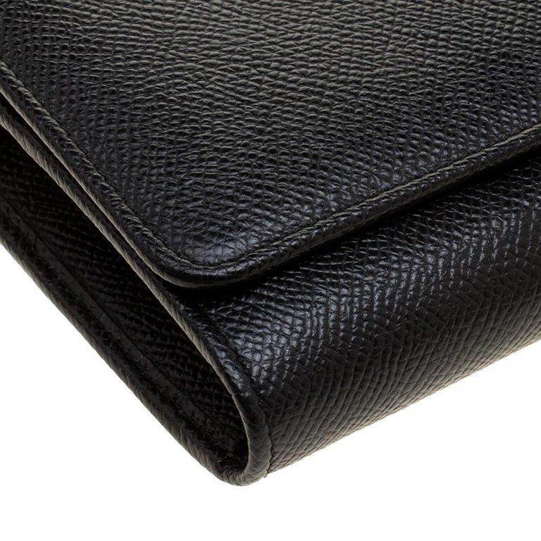 Dolce and Gabbana Black Leather Disco Clutch For Sale 6