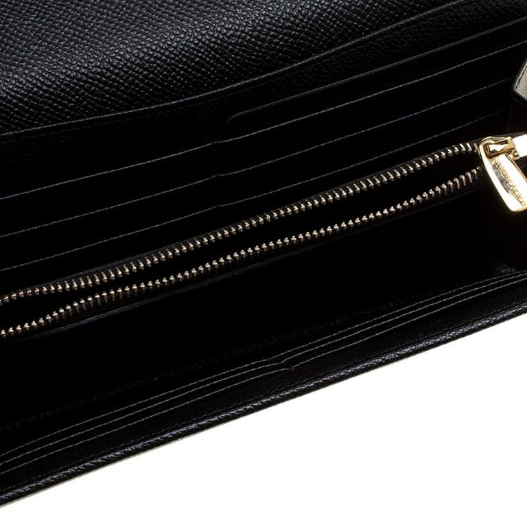 Dolce and Gabbana Black Leather Disco Clutch For Sale 3